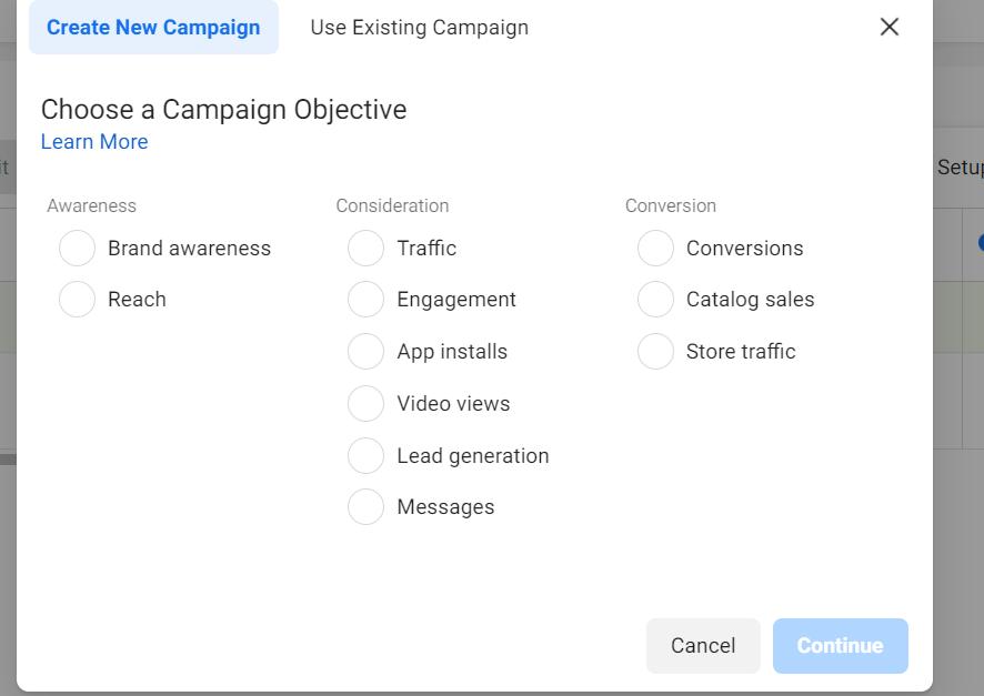 Cele 3 obiective de campanii Facebook